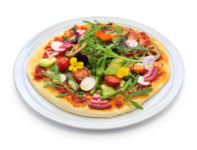 Spring Pizzas with Functional Food Toppings